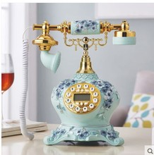 Home happiness flower telephone Europe type table topper home fixed antique phone vintage wireless