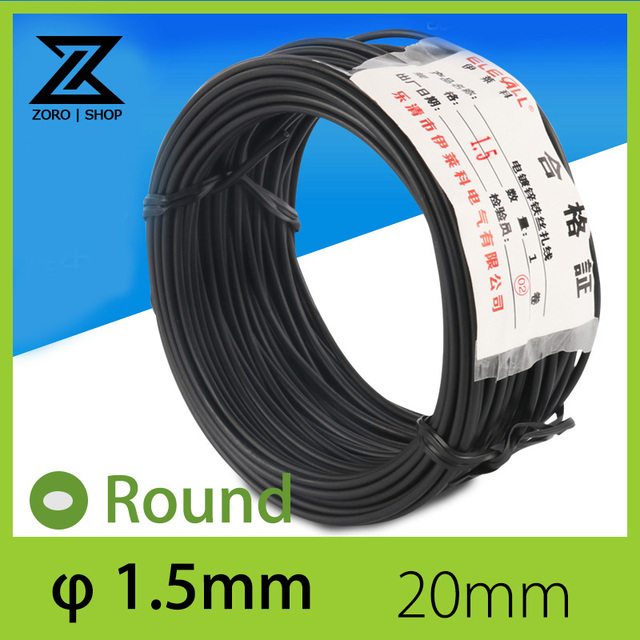 1.5mm 20m Cable Tie Galvanized Tie Wire Black Round Shape-in Cable ...