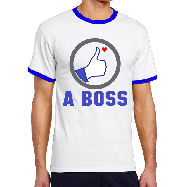 Like a boss Ringer T shirts Vintage Graphic Printed Personalized Tops Shirt