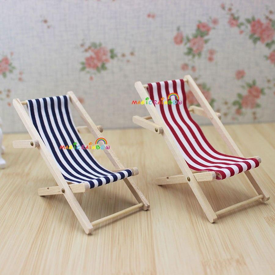 Sedie A Sdraio In Miniatura.1 X Deck Sling Mobili Sedia Reclinabile Sedia A Sdraio Lettini