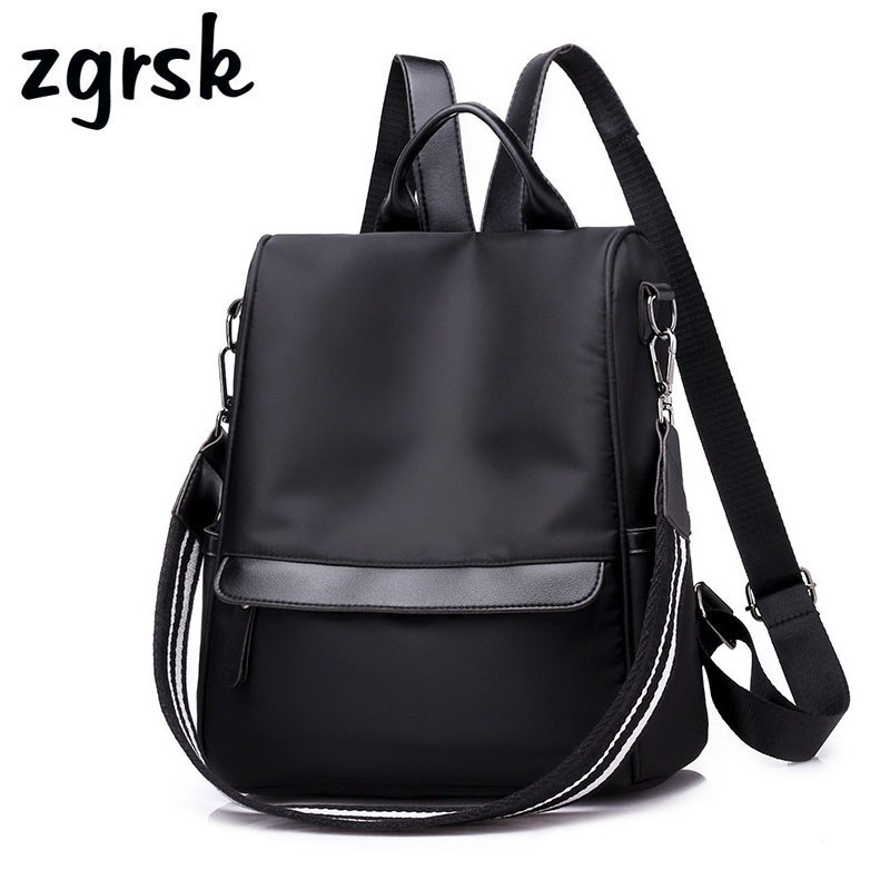 Anti-theft Women Backpack Nylon Casual College Bookbag Female Retro Stylish Daily Travel Bags For School Teenage Girls Backpack