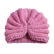 Kids Winter Hats Girls Boys Children Crochet Warm Caps Scarf Set Baby Bonnet Infant Cartton Cute Hat For Girl Boy(China)