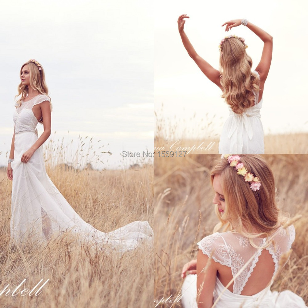 Romantic Weddings Simple: Simple 2016 Chiffon Wedding Dresses Scoop Cap Sleeve