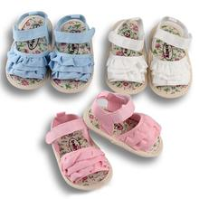 New Summer Casual Baby Girl Shoes Newborn Soft Anti-slip Toddler Infant Blue White Pink Sandals 2019