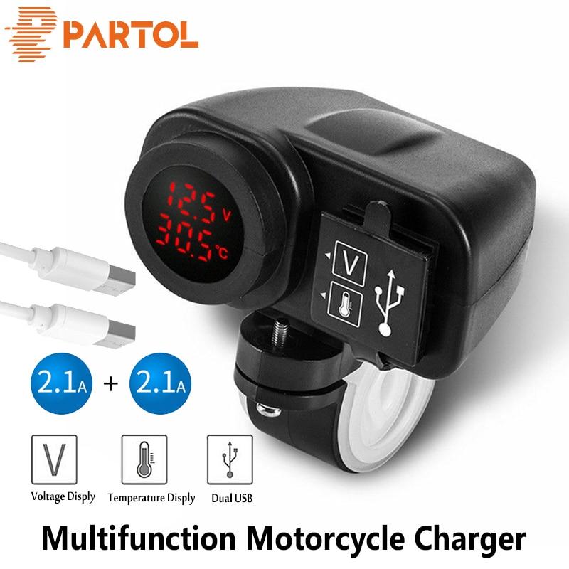 Digital-Voltmeter Usb-Charger iPod Motorcycle Charging-Gps Psp-Phones LED for Partol