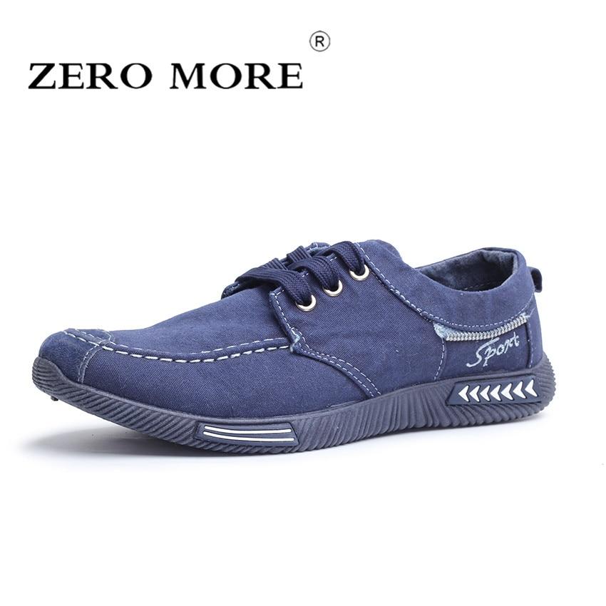 ZERO MORE Canvas Men Shoes Denim Lace Up Men Casual Shoes New 2018 Plimsolls Breathable Male Footwear Spring Sneakers RME-252
