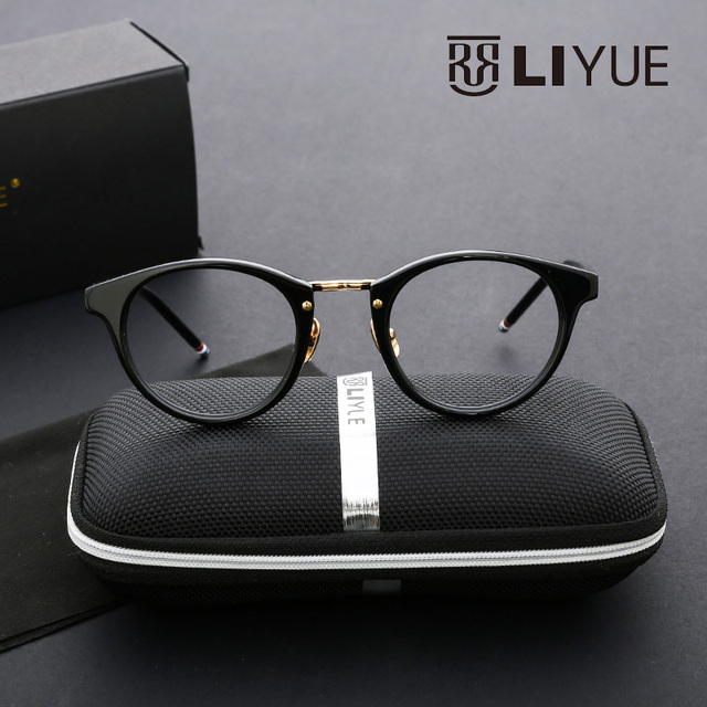 eyeglasses round retro fake glasses vintage clear glasses mens eyewear prescription spectacles women brand myopia glasses 008B