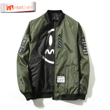 Jacket Men Pilot with Patches Green Both Side Wear Army Military Thin Pilot Bomber Jackets Wind Breaker Jacket Men Dropship