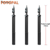 Fotopal 3 Pcs Aluminum Tripod Install For Selfie Stick Action DSLR Mini Camera Light Stand With