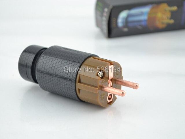 Free shipping original Yarbo pure red  Hi-End Connectors EU power Plug free shipping one pair viborg 99 999% pure copper 24k goldplated eur schuko eu power plug