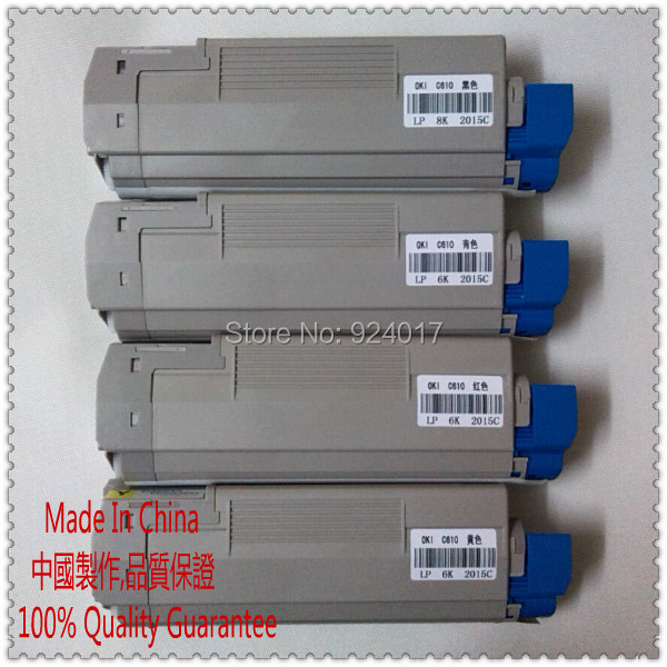 For Oki C610 C610n Toner Cartridge,Refill Toner For Okidata C610 C610n Printer,For Oki 44315324 44315323 44315322 44315321,4*PCS 20pcs 45807115 toner cartridge chip for oki data es5112 es4132 es4192 es5162 es 5112 4132 4192 5162 printer powder refill reset