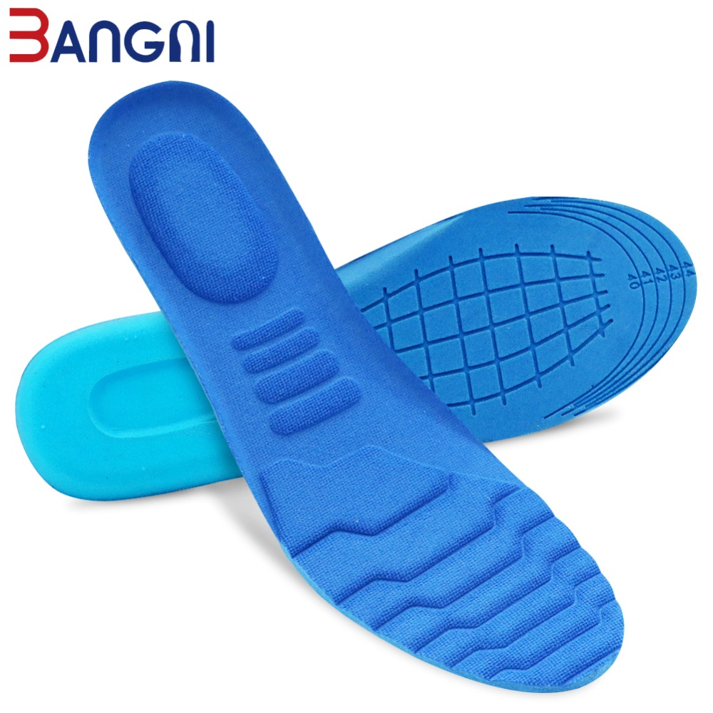 3ANGNI 1 Pair Insoles Memory Foam Sweat Absorbant Sport Massage Arch Support Soft Pad Insert Woman Men Feet Pain Shoes Sole in Insoles from Shoes
