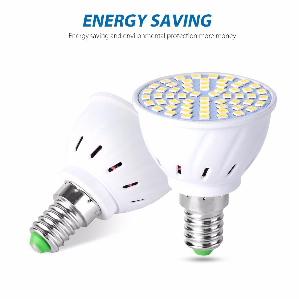 E27 LED Spotlight 2835 Lampada Led E14 220V Spot Lamp GU10 4W 6W 8W Bombilla Led B22 Light MR16 Corn Bulb High Lumen Chandelier