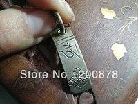 Ethnic Jewelry TBP535 Tibetan Man`s Copper OM Vajra charms30mmTibetan Babao Amuletbest offerbig sale