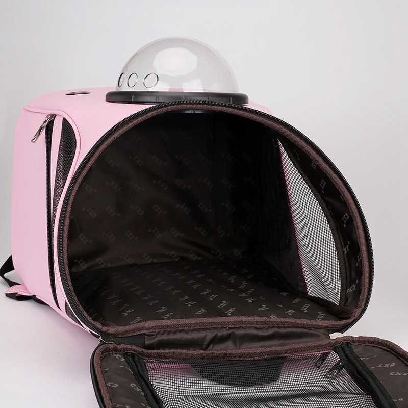 Рюкзак для кошек, спортивный рюкзак для животных, для путешествий на открытом воздухе, для переноски домашних животных, модная капсула черного цвета