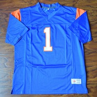 MM MASMIG Harmon Tedesco #1 Blue Mountain State Football Jersey Cosido Azul S M L XL XXL XXXL 4XL