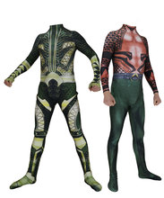 Justice League Aquaman Cosplay Costume 3D Print Skin Spandex Zentai Aquaman Bodysuit Halloween Party suit