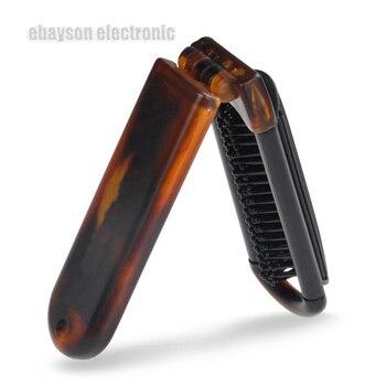 Профессиональная портативная складная щетка для массажа волос, расческа для волос, зеркальная, для путешествий