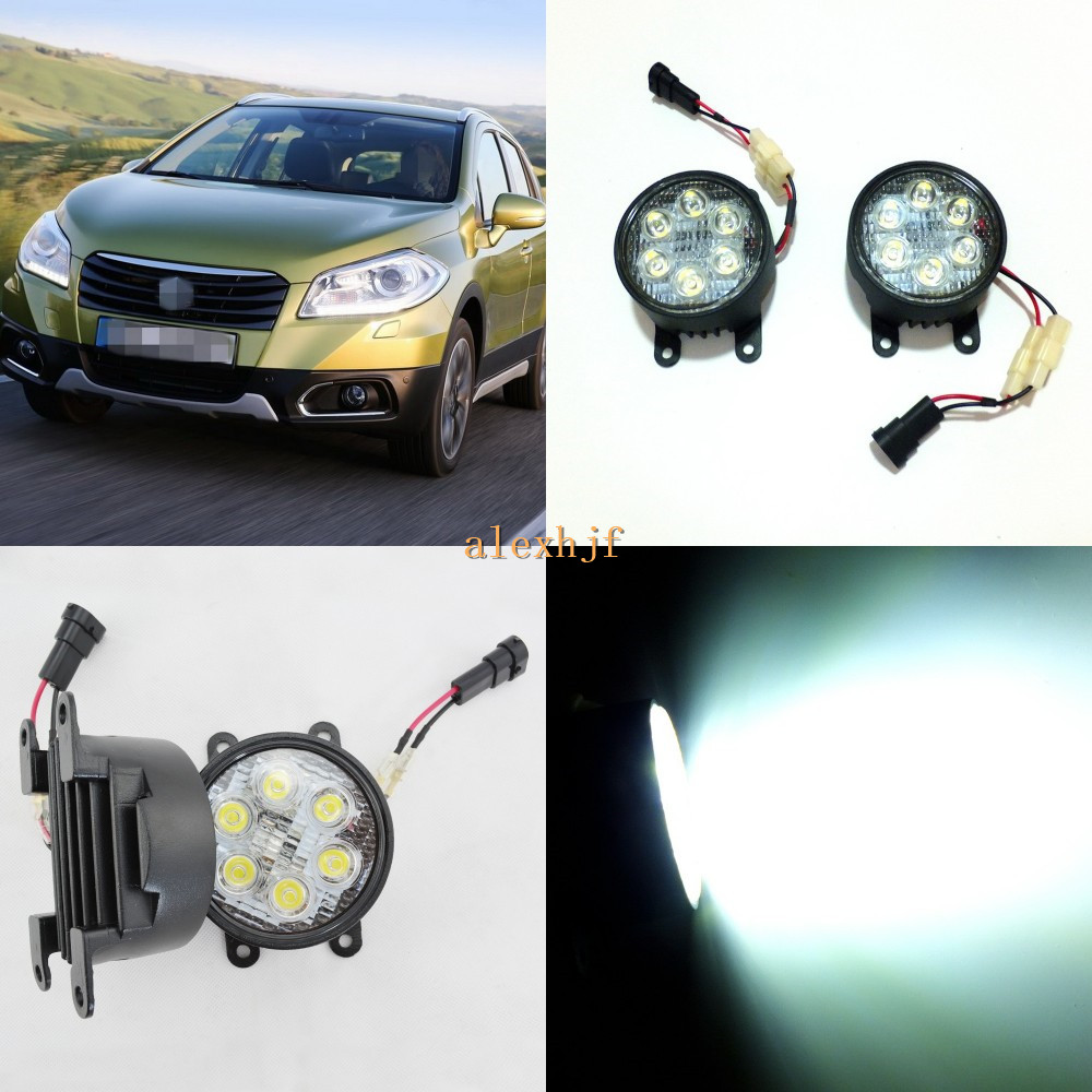 July King 18W 6LEDs H11 LED Fog Lamp Assembly Case for Suzuki SX4 and SX4 Crossover, 6500K 1260LM LED Daytime Running Lights лампа king page autumn a6 sx4 led