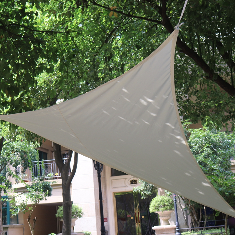 2x2x2m Triangular Sunshade Sail Home Garden Patio Pool Sun Shelter Awning Camping Picnic Tent Waterproof Shading Cloth 16 Colors