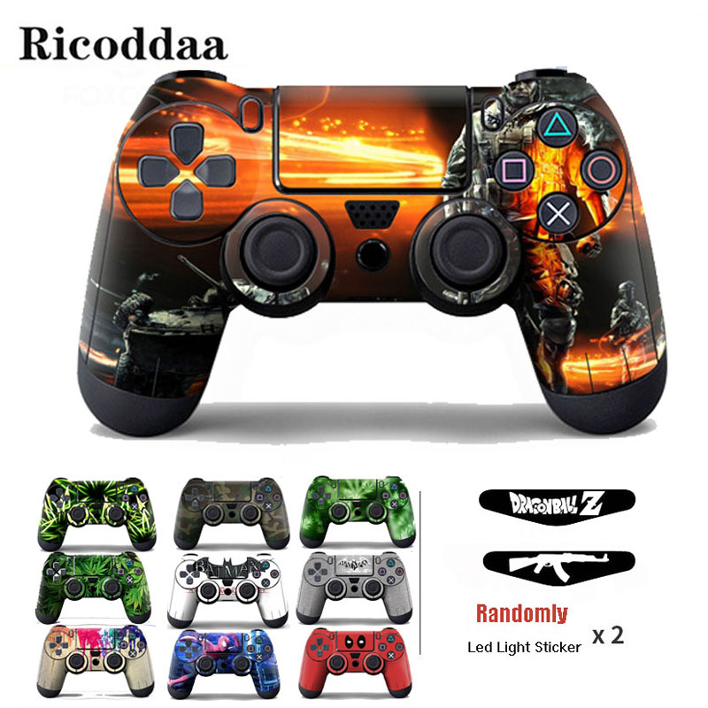 PVC Vinyl Cover Sticker For PS4 Wireless Controller Gamepad Protective Skin Decal For Playstation 4 Controle Joystick image