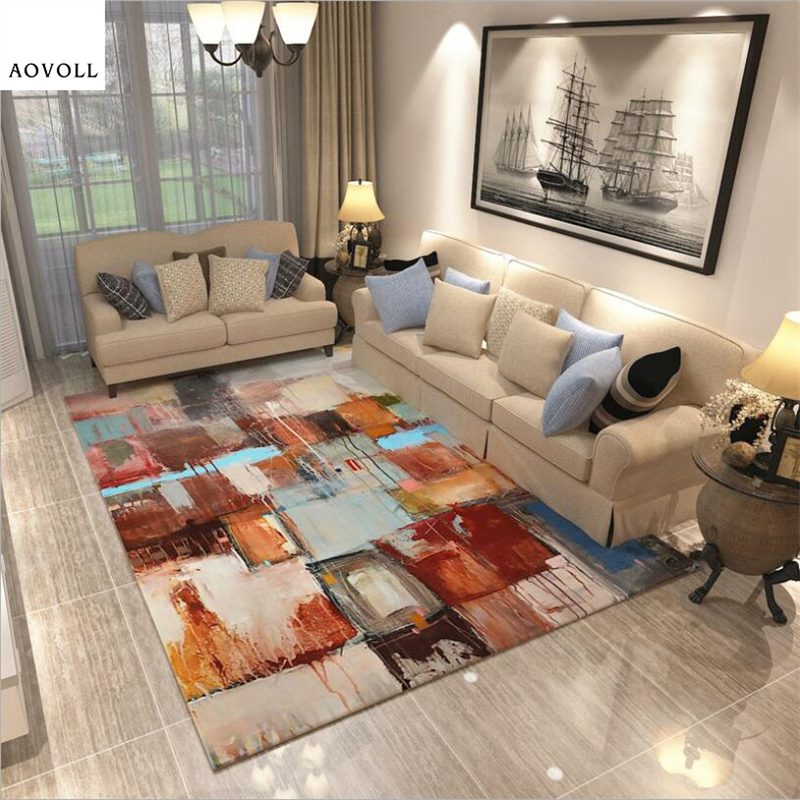 AOVOLL Abstract New Modern Carpets For Living Room Bedroom Kid Rugs Home Carpet Floor Door Mat Decorate House Soft Area Rug
