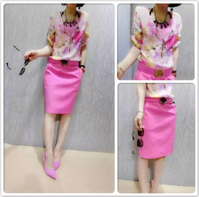 Европа набор женский летом новый печать с коротким рукавом рубашки юбка из двух частей женской моды костюм отдыха