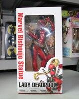 Yeni Kotobukiya Marvel Bitiş Şarkısı Heykeli Süper Kahraman Lady Deadpool Seksi 9.5 inç Action Figure