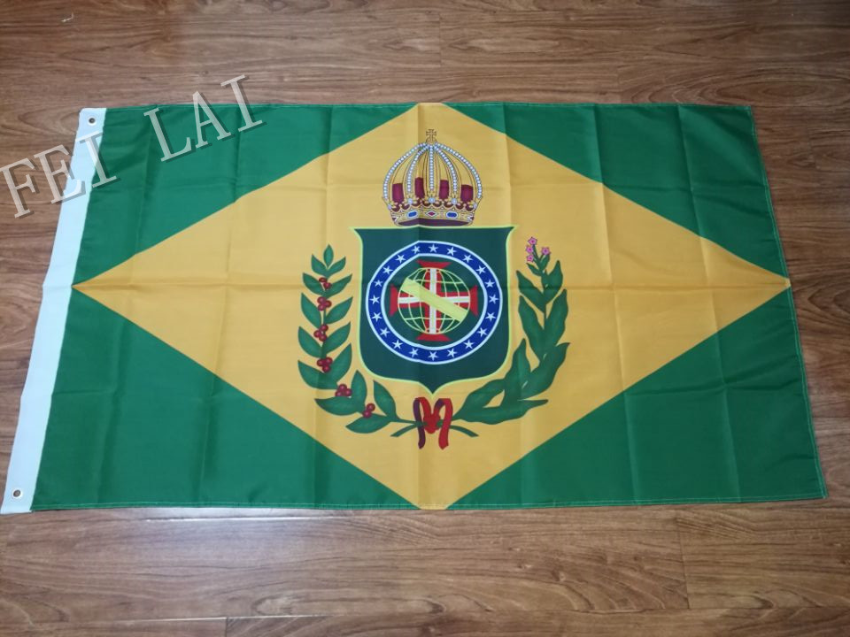Empire Of Brazil (1870-1889) 20 Star Flag banner With two Metal Grommets 3ftx5ft