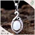 Luxury Natural Round Jade 925 Sterling Silver Pendant for Woman