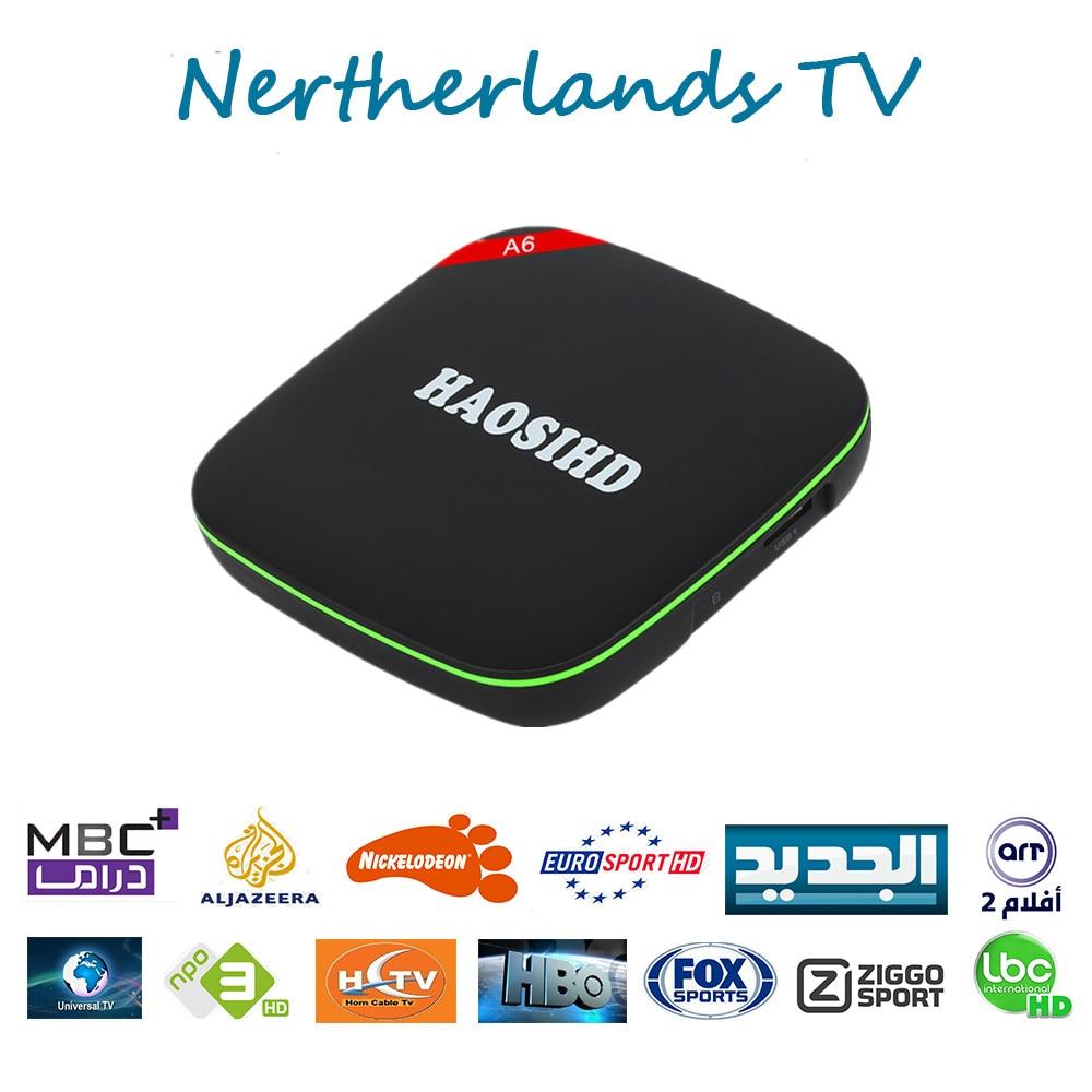 Nederlandse Ip ТВ Европа коробка с Ip ТВ Nederland Abonnement 1 год бесплатно голландский Бельгия Испании Франции Африка IP ТВ