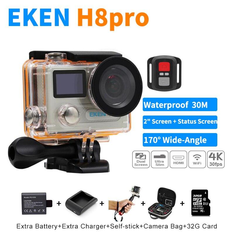 Venta caliente EKEN H8 Pro Cámara de Acción Ultra 4 K/30fps Ambarella A12 Remoto