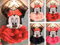 2017 girls dress para o partido do miúdo dos desenhos animados mickey minnie mouse meninas crianças roupas de bebê moda verão lovely girl dress bb050