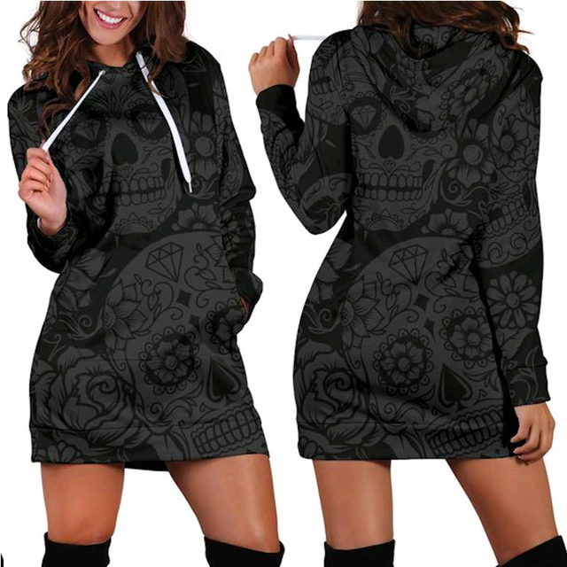 3D Hoodies Women Melted Skull Full Print Novelty Hoody Sweatshirt Pullover Tracksuits Streetwear Harajuku Tops Hipster