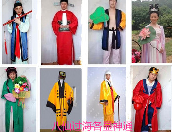 Famous Chinese Fairy Tale Ba Xian Guo Hai:the Eight Immortals Cross the Sea Costume Sets