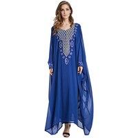 Babalet Elegancki Modest Muzułmaninem Kaftan Abaya Islamski Odzież Pełnej Długości Dżetów Diament Długa Maksia Suknia Ramadan EID