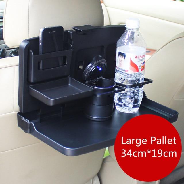 Coche Grande Drink bandeja de Asiento trasero mesa de comedor plegable soporte gobelet Plegable organizador Negro accesorios de Viaje