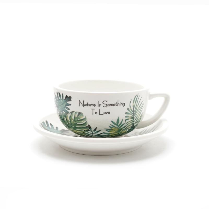 New Creative 320ml Coffee Cup Bamboo Leaf 4