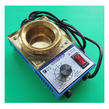 220V 150W solder pot tin melting furnace thermoregulation stainless steel 50mm 200-450 centigrade 6pcs