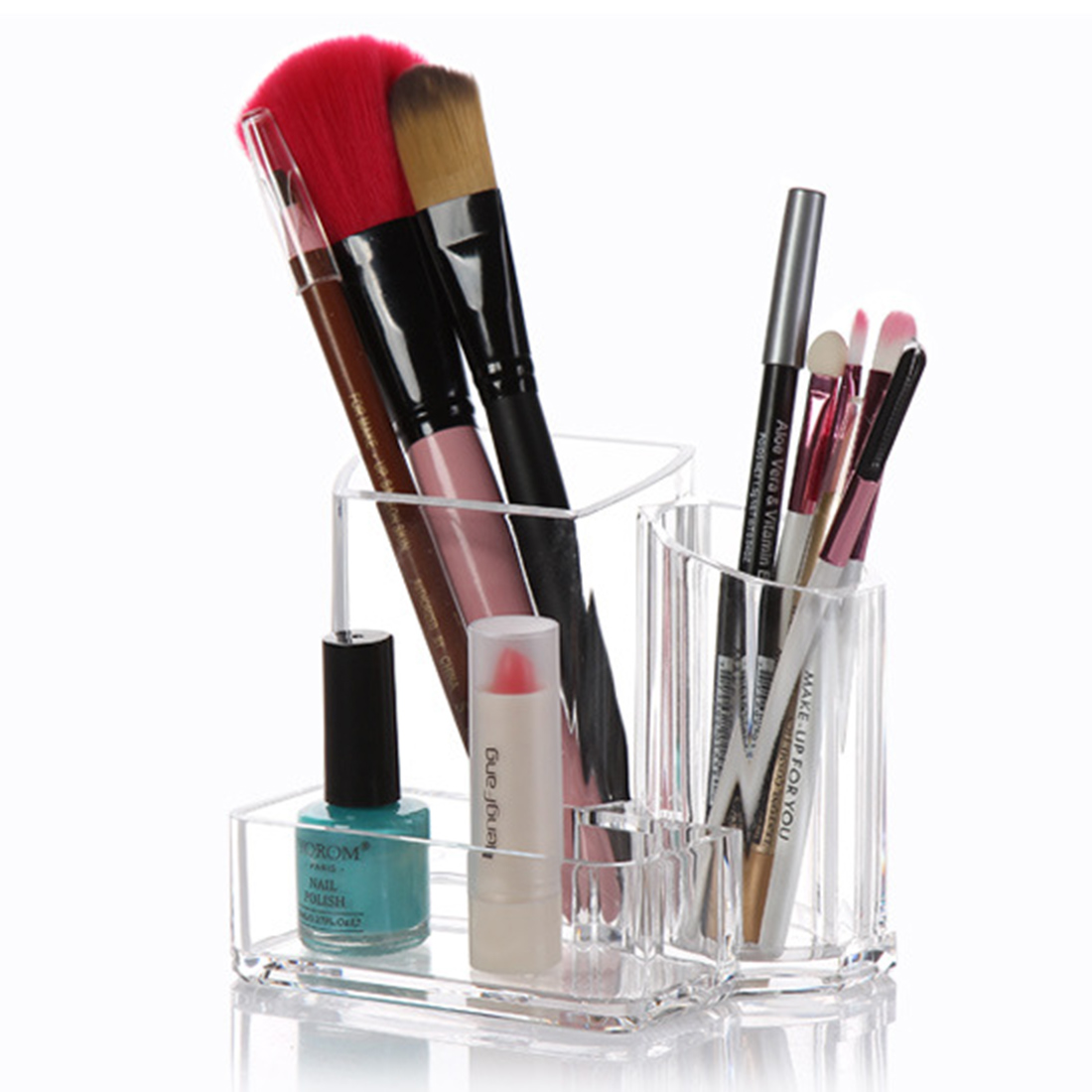 Clear Acrylic Makeup Pen Organizer Brushes Holder Case ...
