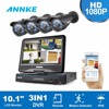 ANNKE 10 1 LCD Monitor 8CH 1080P HD CCTV System 3IN1 1080P DVR 2 0MP CCTV