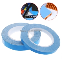 Adhesive Tape Double Side Transfer Heat Thermal Conduct For LED PCB Heatsink CPU 10mm/20mm*25m #