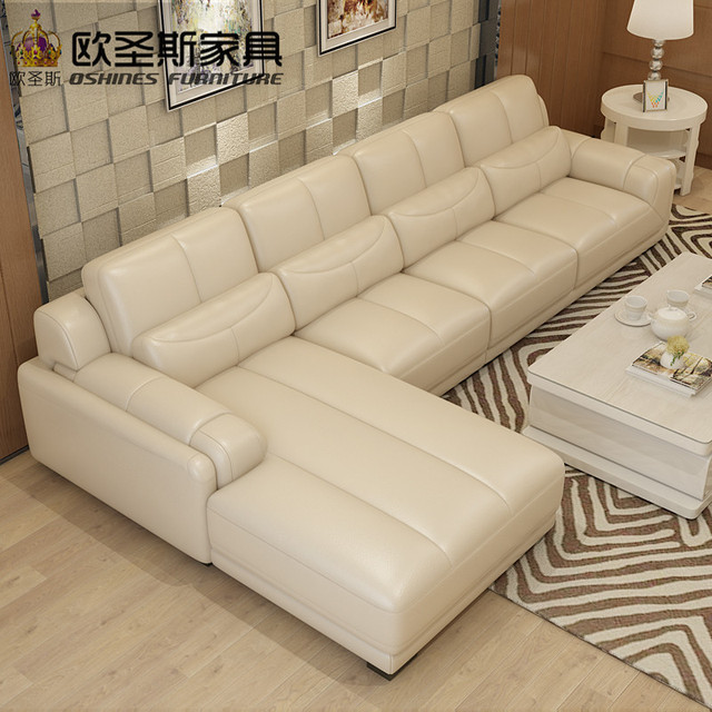 New model l shaped modern italy genuine real leather sectional latest corner furniture living room sex : l shaped leather sectional - Sectionals, Sofas & Couches