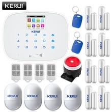 KERUI Android IOS APP Управления GSM SMS Беспроводной Голос Главная Дом Охранная Сигнализация 433 мГц Поддержка языков переключатель