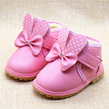 Insole11-13cm New Winter Girls Baby Warm Shoes Cartoon Bow Decoration Girls Shoes Children's Boots