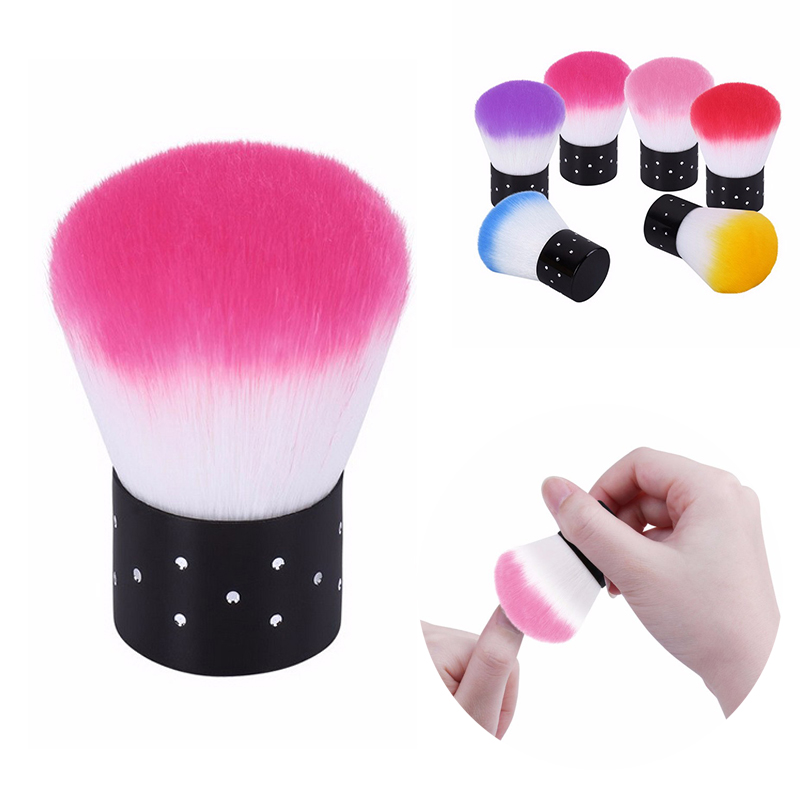 1pcs Nail Cleaning Brush Colorful Soft Nail Brush Dust Remover Nail Art Manicure Tools Nail Power Cleaner For Acrylic & UV Gel