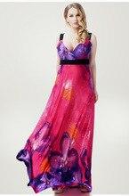 Moda primavera e no verão o-pescoço vestido de praia vestido plus size viscose one-piece vestido alcinhas vestido cheio livre grátis(China)