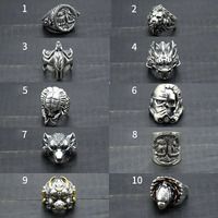 Men's ring masquerade knight lutou fashion men s925 sterling silver Thai silver ring women with exaggerated personality