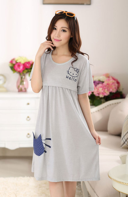 https://ae01.alicdn.com/kf/HTB1IVk1JXXXXXcyXXXXq6xXFXXXI/Knee-length-Nursing-clothes-pregnant-women-maternity-dress-summer-Breastfeeding-lactating-loose-cotton-dress-pregnancy-gravidity.jpg_640x640.jpg