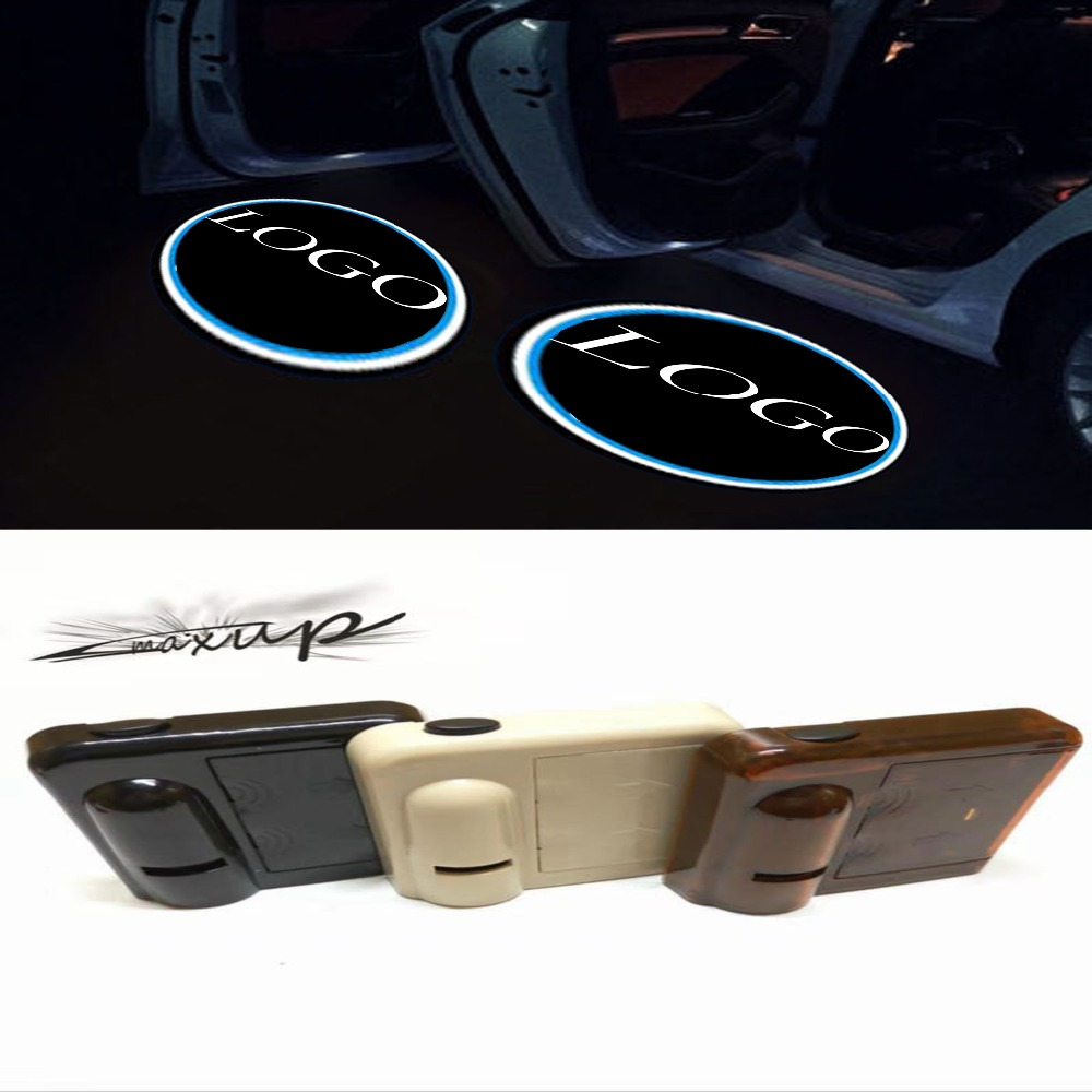 Maxup Top Fashion 2pcs Wireless Car Door Welcome Light For Jeep Led Projector Lamp Laser Logo Free Shipping In Decorative From Automobiles